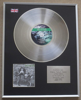 BAP KENNEDY - Limited Edition CD Platinum LP Disc - HILL BILLY SHAKESPEARE
