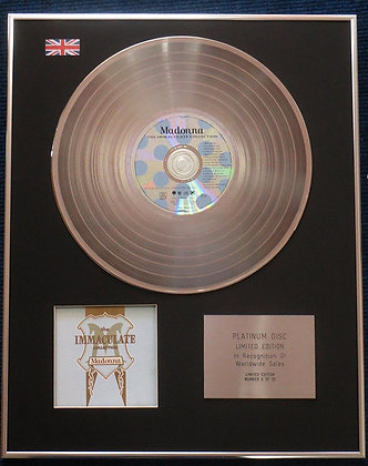 Madonna - Limited Edition CD Platinum LP Disc - The Immaculate Collection