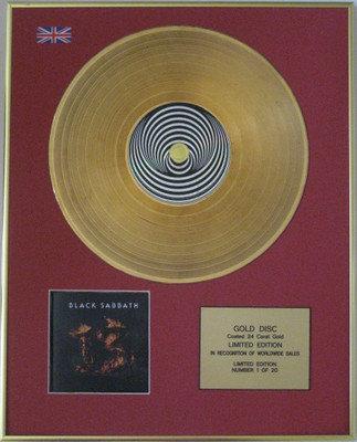 BLACK SABBATH 13 - Limited Edition 24 Carat CD Gold Disc