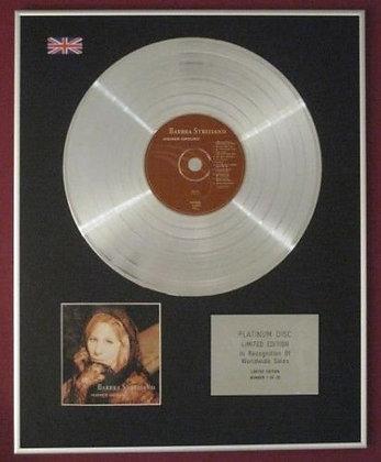 BARBRA STREISAND - Platinum Disc - HIGHER GROUND