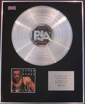 PETER ANDRE -  CD Platinum Disc - NATURAL