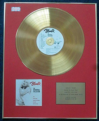 Blondie - Limited Edition CD 24 Carat Gold Coated LP Disc - Essential Blondie