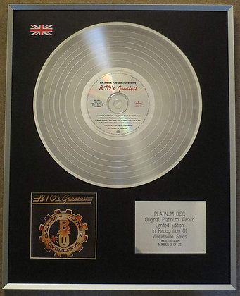 Bachman�Turner Overdrive - Limited Edition CD Platinum LP Disc - BTO'S Greatest