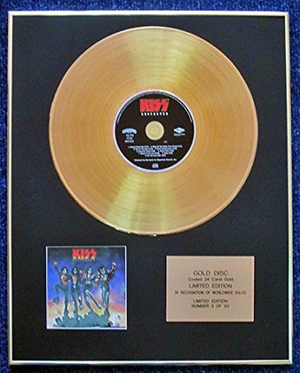 Kiss - Limited Edition CD 24 Carat Gold Coated LP Disc - Destroyer