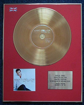 Marti Pellow - CD 24 Carat Gold Coated LP Disc - Sings the Hits…