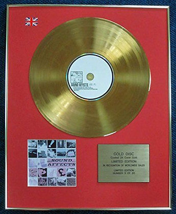 Jam - Limited Edition CD 24 Carat Gold Coated LP Disc - Sound Effects