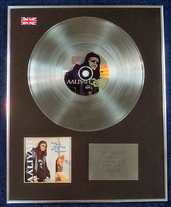 AALIYAH - Limited Edition CD Platinum LP Disc - AGE AIN'T NOTHING BUT A NUMBER