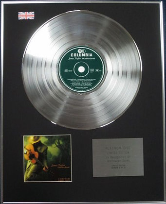 JAMES TAYLOR - Limited Edition CD Platinum Disc - OCTOBER ROAD