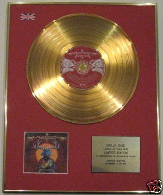 MASTODON- Ltd Edtn CD 24 Carat Gold Disc-BLOOD MOUNTAIN