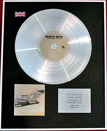 BEASTIE BOYS - CD Platinum Disc - LICENSE TO ILL