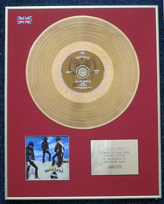 MOTORHEAD - Limited Edition CD 24 Carat Gold Coated LP Disc - ACE OF SPADES