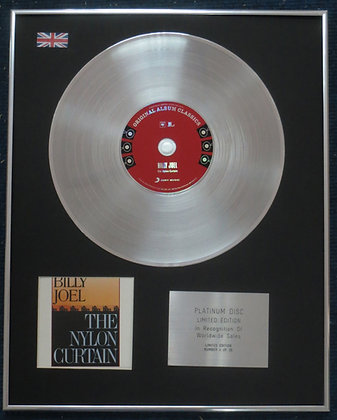 BILLY JOEL - Limited Edition CD Platinum LP Disc - THE NYLON CURTAIN