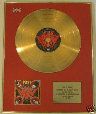 KISS - Ltd Edt CD Gold Disc - SONIC BOOM