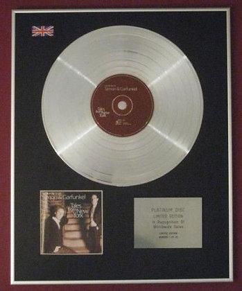 SIMON AND GARFUNKEL - CD Platinum Disc - TALES FROM NEW YORK
