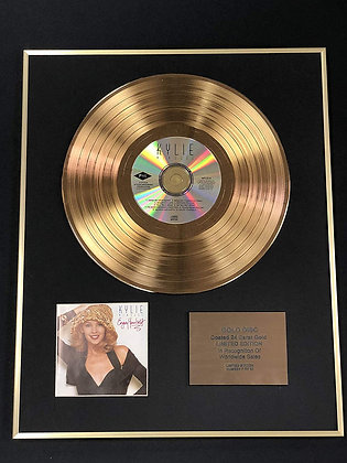 Kylie Minogue - Exclusive Limited Edition 24 Carat Gold Disc - Enjoy Yourself