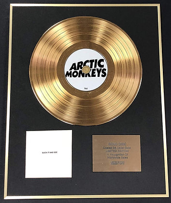 Arctic Monkeys - Exclusive Limited Edition 24 Carat Gold Disc - Suck It And See