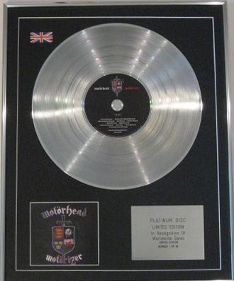 MOTORHEAD - CD Platinum Disc- MOTORIZER