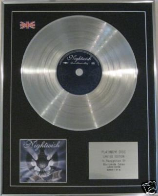 NIGHTWISH - CD Platinum Disc- DARK PASSION PLAY