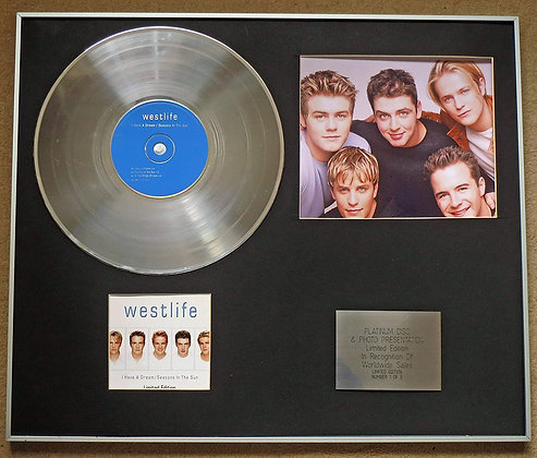 WESTLIFE - Platinum Disc CD Single + Photo - I HAVE A DREAM