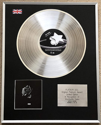 POP SMOKE – Limited Edition CD Platinum Disc – SHOOT FOR THE STARS AIM FOR THE M