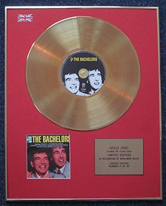 The Bachelors - Limited Edition CD 24 Carat Gold Coated LP Disc - Best of