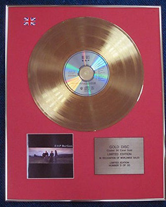 Bee Gees - Limited Edition CD 24 Carat Gold Coated LP Disc - E S P