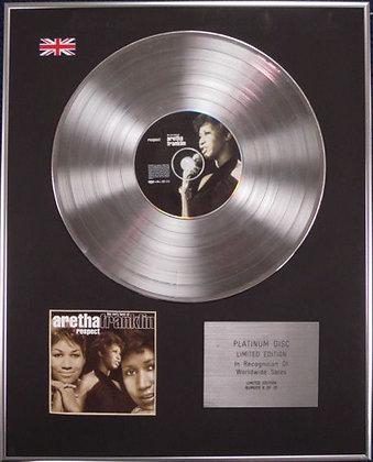 ARETHA FRANKLIN - Limited Edition CD Platinum Disc - RESPECT