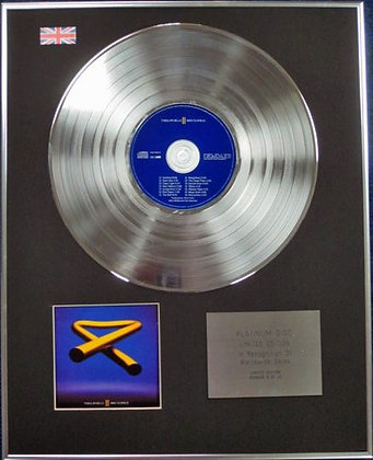 MIKE OLDFIELD - Limited Edition CD Platinum Disc - TUBULAR BELLS 2