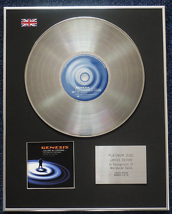 Genesis - Limited Edition CD Platinum LP Disc - Calling All Stations
