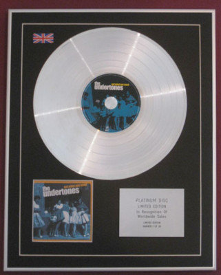 UNDERTONES -Ltd CD Platinum Disc- GET WHAT YOU NEED
