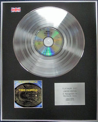 MIKE OLDFIELD - Limited Edition CD Platinum Disc - HERGEST RIDGE