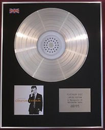 CHRIS ISAAK - CD Platinum Disc- SPEAK OF THE DEVIL