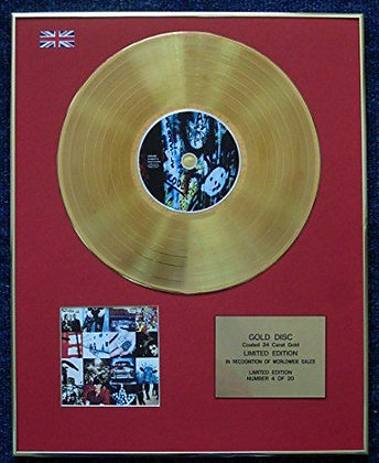 U2 - Limited Edition CD 24 Carat Gold Coated LP Disc - Achtung Baby