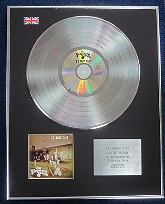 Temperance Seven- Limited Edition CD Platinum LP Disc - 33 Not Out