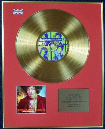 JIMI HENDRIX - Ltd Edition CD 24 Carat Coated Gold Disc - EXPERIENCE
