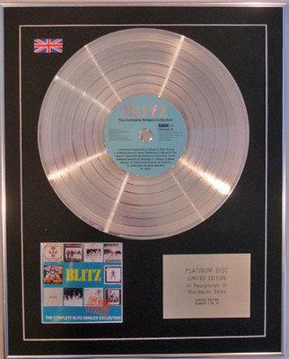 BLITZ - Ltd Edition CD Platinum Disc - THE SINGLES COLLECTION