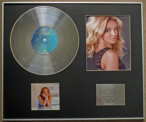 BRITNEY SPEARS - Platinum Disc CD Single + Photo - BORN TO MAKE YOU HAPPY