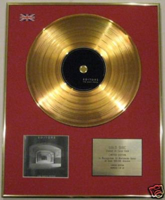 EDITORS - Ltd Edtn CD 24 Carat Gold Disc- THE BACK ROOM