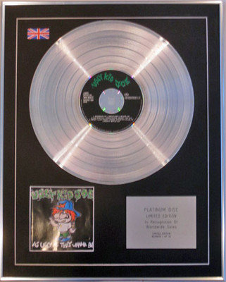 UGLY KID JOE - Limited Edition CD Platinum Disc - AS UGLY AS THEY WANNA BE