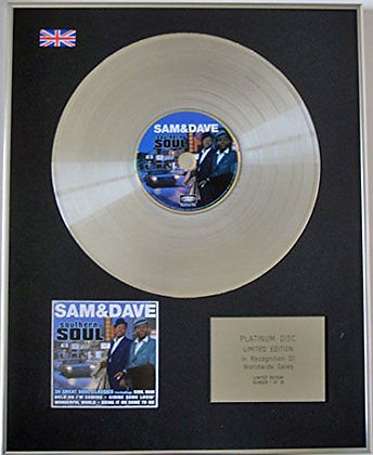 SAM & DAVE - CD Platinum Disc - SOUTHERN SOUL