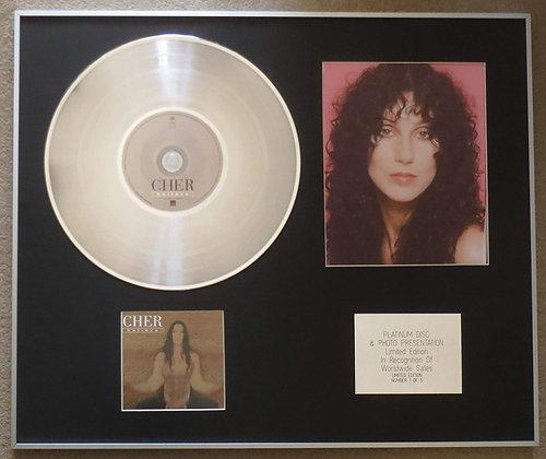 CHER - Platinum Disc CD Single + Photo - I BELIEVE
