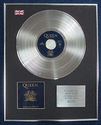 Queen - Limited Edition CD Platinum LP Disc - Greatest Hits 11