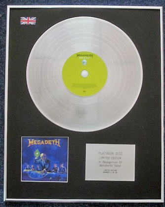 MEGADETH - Limited Edition CD Platinum LP Disc - RUST IN PEACE