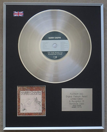 HARRY CHAPIN – Limited Edition CD Platinum Disc – ON THE ROAD TO KINGDOM COME