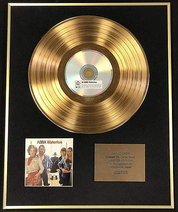 Abba - Exclusive Limited Edition 24 Carat Gold Disc - Waterloo