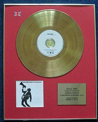 Bryan Adams - LTD Edition CD 24 Carat Gold Coated LP Disc - Waking up the…