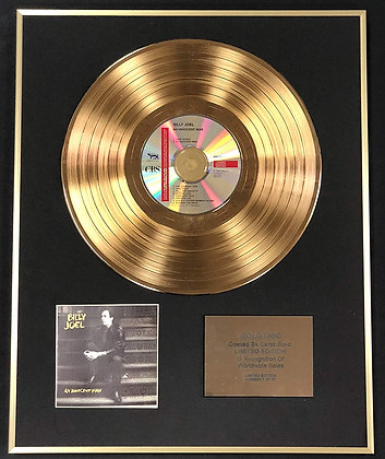Billy Joel - Exclusive Limited Edition 24 Carat Gold Disc - An Innocent Man