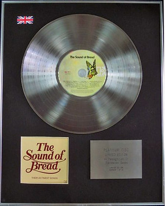 BREAD - Limited Edition CD Platinum Disc - THE SOUND OF BREAD