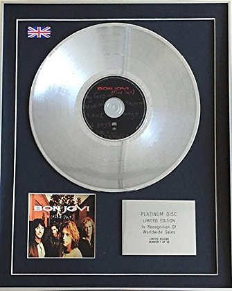 BON JOVI - Limited Edition CD Platinum Disc - THESE DAYS