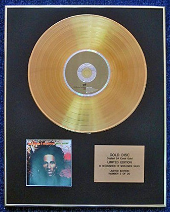 Bob Marley - LTD Edition CD 24 Carat Gold Coated LP Disc - Natty Dread